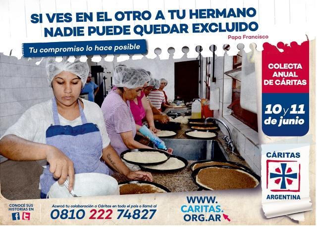 Cáritas Argentina inició su campaña para la colecta anual del 10 y 11 de junio