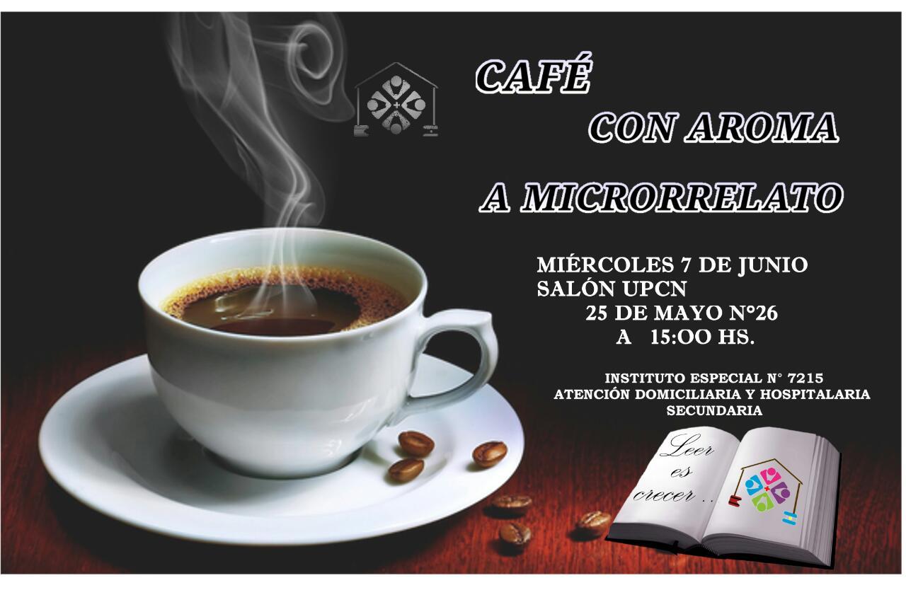 """Primer encuentro de lectura denominado """"Café con aroma a microrrelatos"""""""