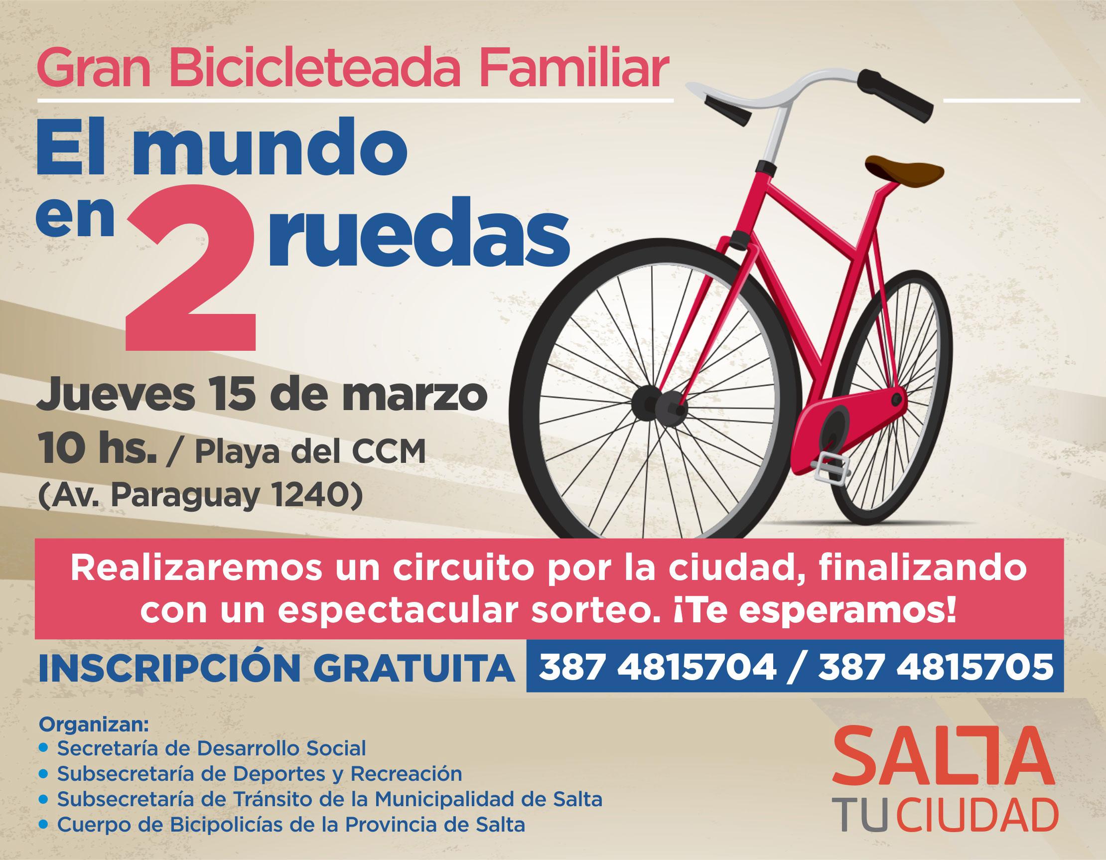 """""""El mundo en 2 ruedas"""", la gran bicicleteada familiar"""