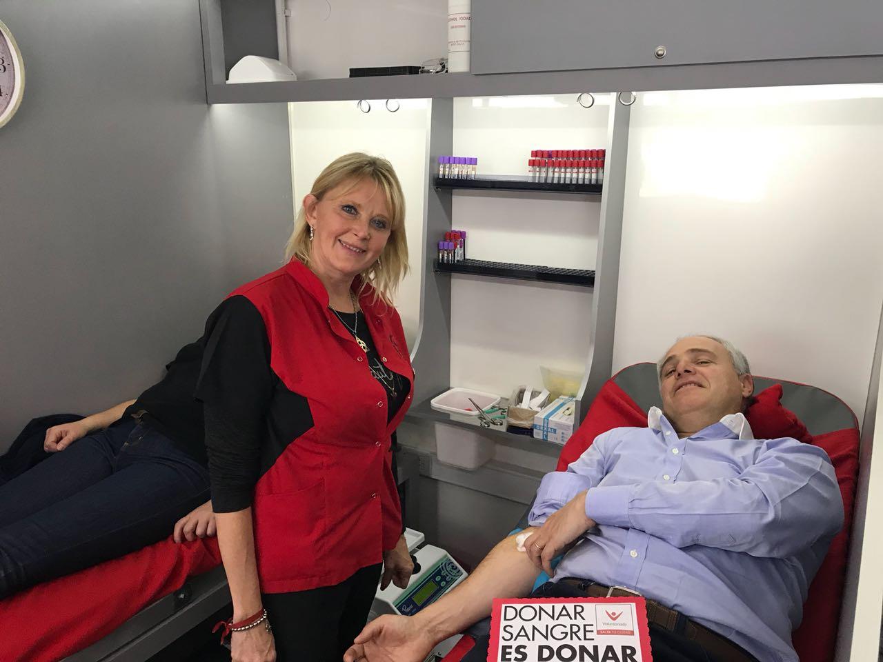 Matias Canepa, exhortó a ser donantes voluntarios de sangre