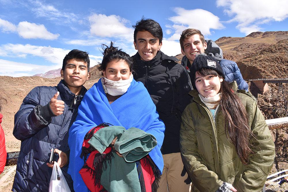 Estudiantes destacados viajaron en el Tren a las Nubes
