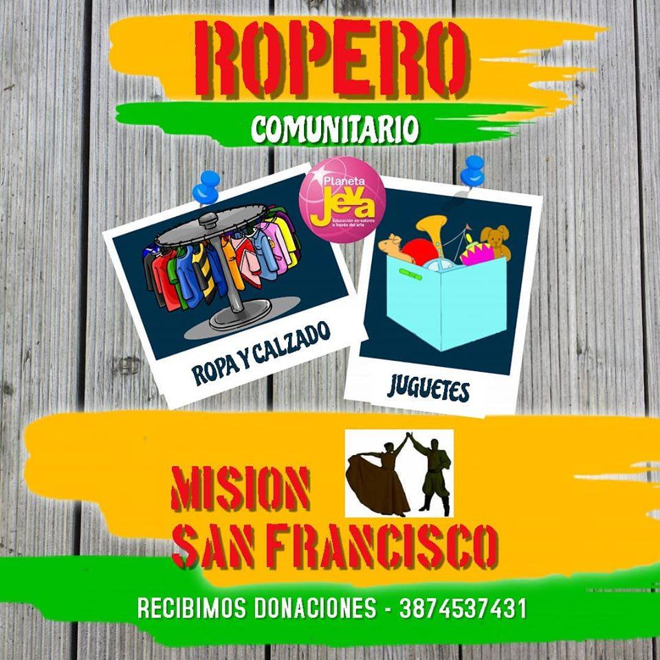"""Piden colaboración para equipar el """"Ropero Comunitario"""" de Misión San Francisco – Pichanal"""