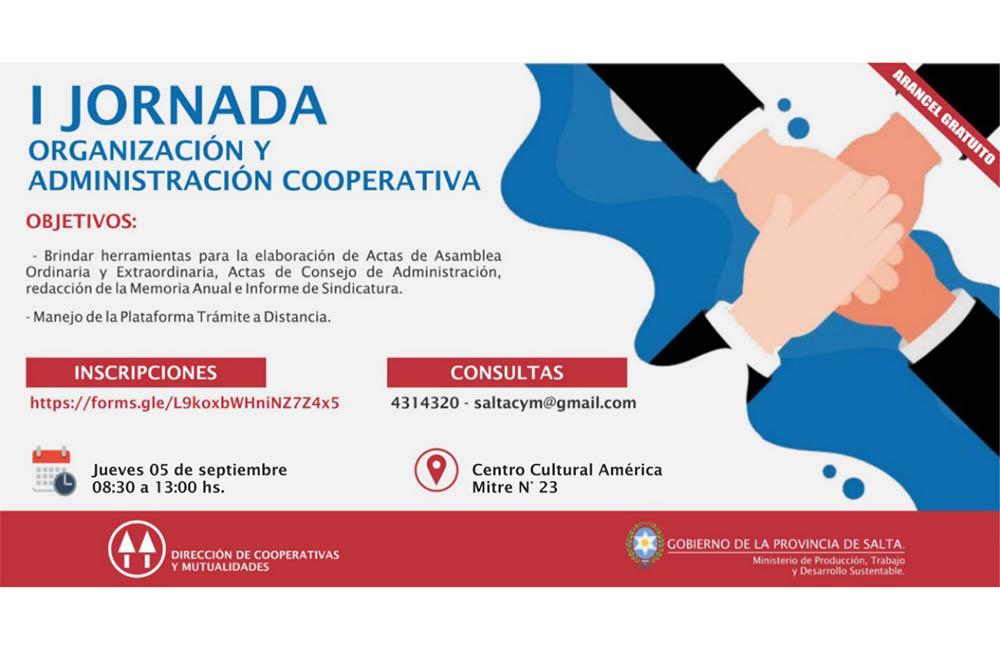 Primera Jornada de Organización y Administración Cooperativa