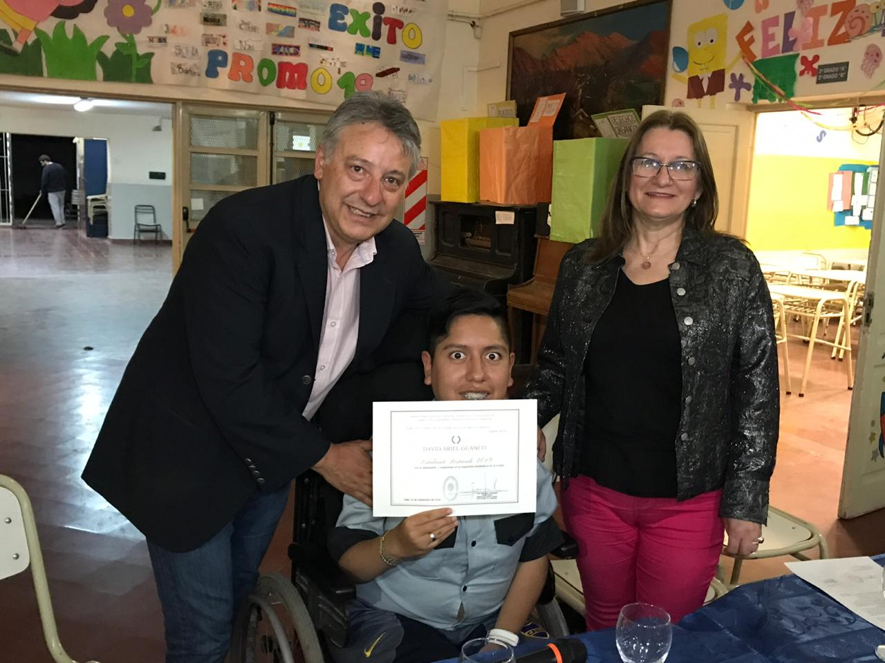 "El IES N° 6053 distingue a David Guanco como ""Estudiante destacado 2019"""