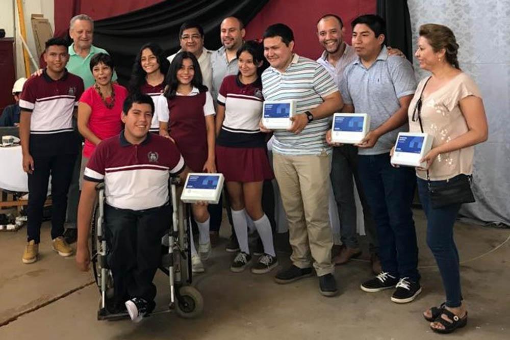 Jóvenes de la escuelas del departamento San Martín recibieron kits de robótica educativa