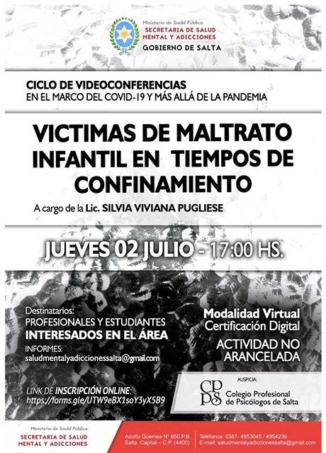 Charlas virtuales sobre el maltrato infantil