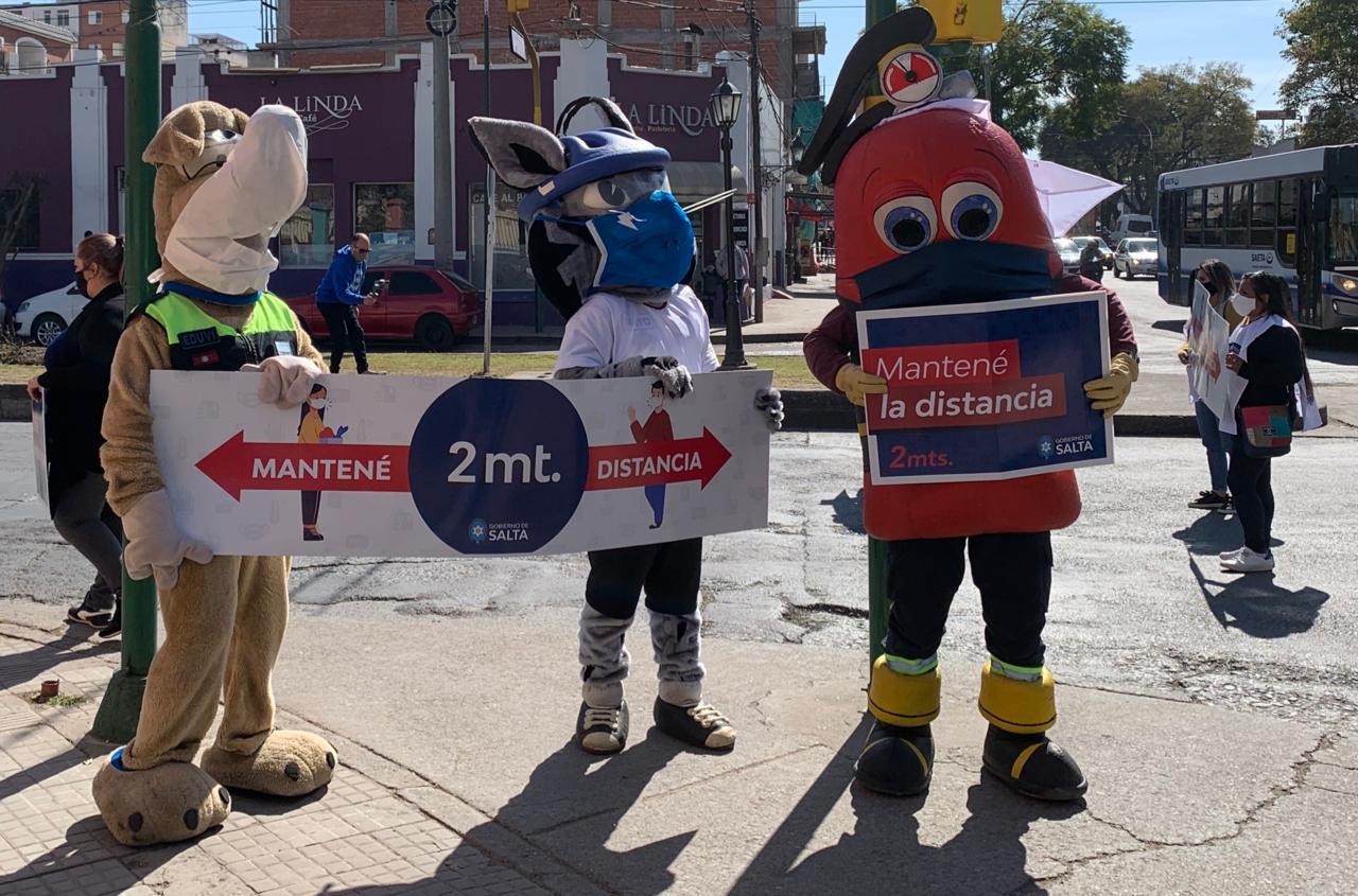 Jornada de concientización COVID-19 en las calles de Salta