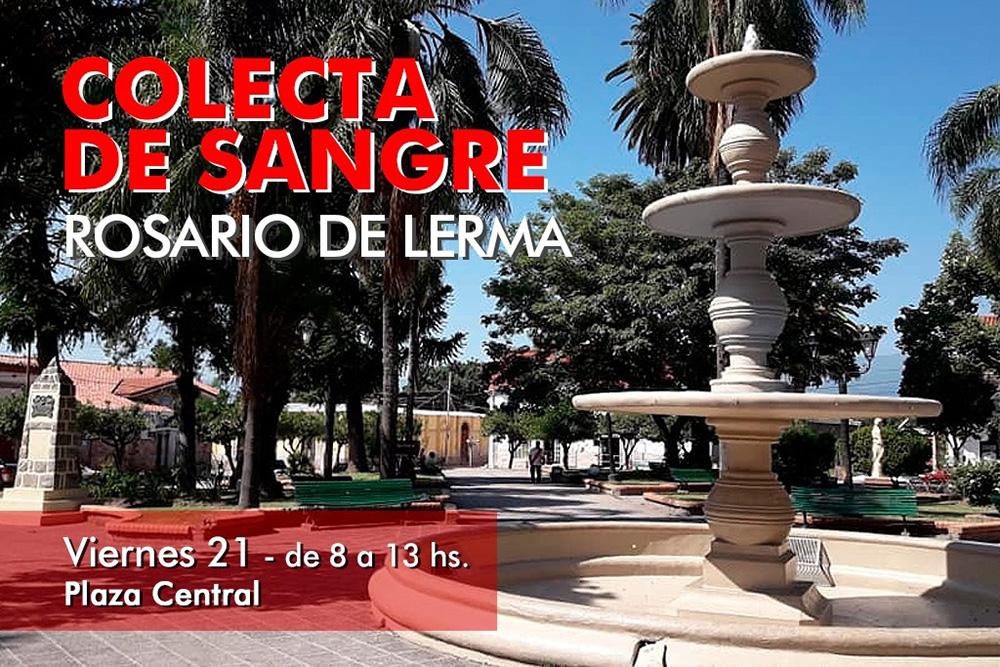 Mañana se hará promoción y colecta de sangre en Rosario de Lerma