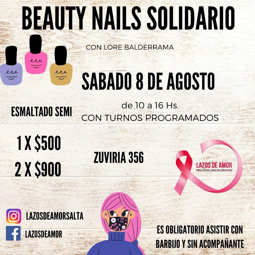 """Se viene el """"Beauty Nails Solidario"""" de Fundación Lazos de Amor"""