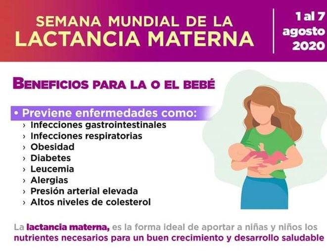 La lactancia materna favorece una mejor salud del niño y la madre