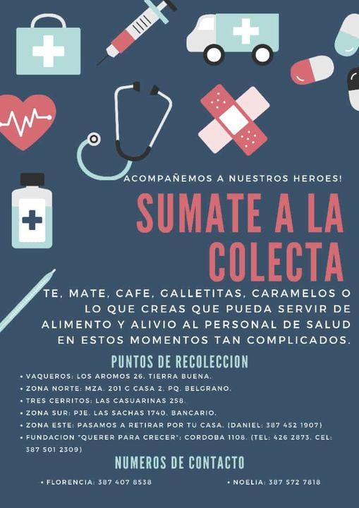 """Amigos del grupo """"Entramando amor"""", confeccionan cajas solidarias para el personal de salud"""