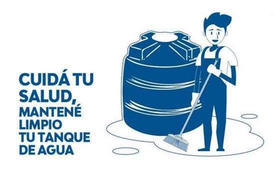 Recuerdan la importancia de limpiar los tanques de agua y las cisternas