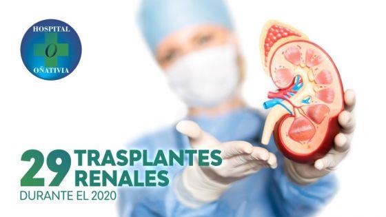 Se realizaron 29 trasplantes renales en el hospital Oñativia durante 2020