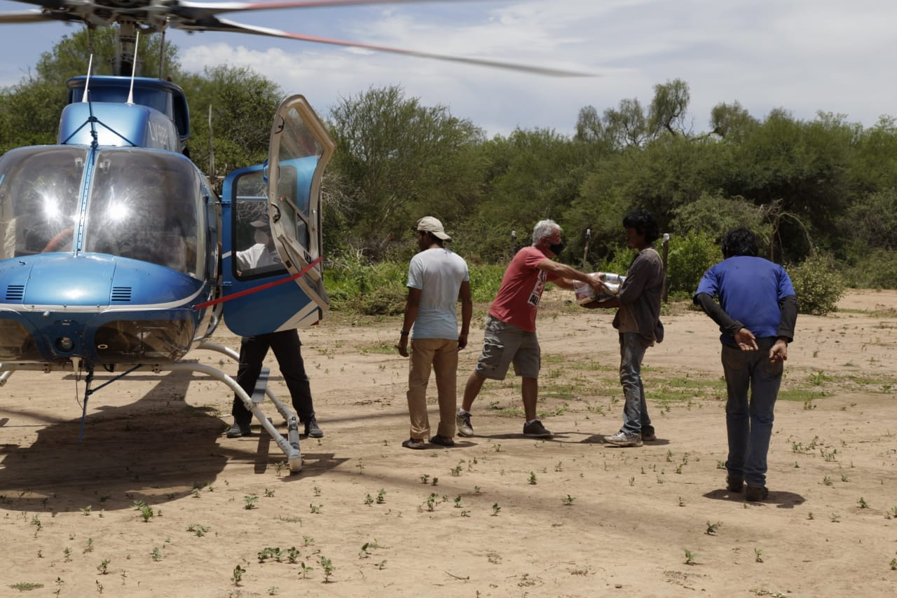 Dieron contención alimentaria a comunidades anegadas en el municipio de Ballivián