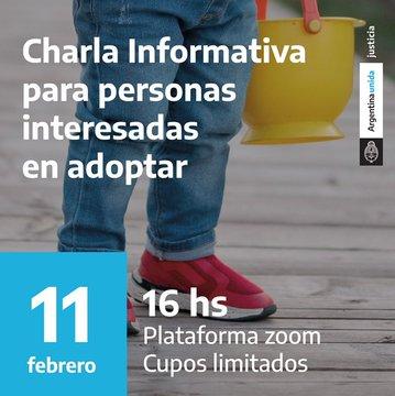 El jueves 11 se realizará una charla informativa virtual para interesados en adopción