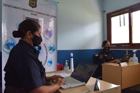 Se refuerza el trabajo de asistencia y contención para policías afectados por la pandemia