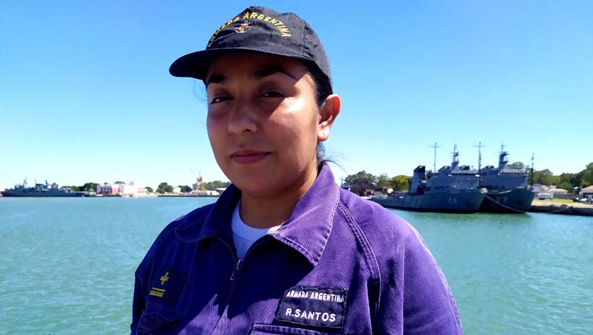 Una lermense oriunda de Rosario de Lerma en la Armada Argentina