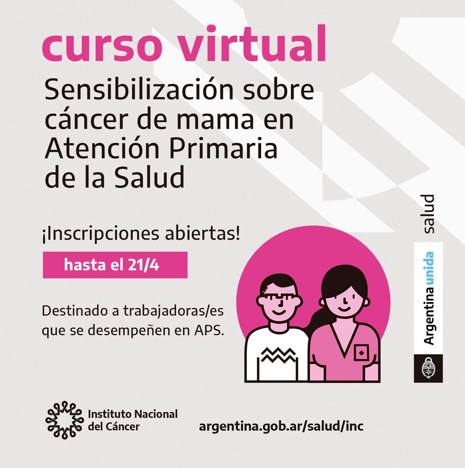 Curso Virtual: Sensibilización sobre Cáncer de Mama en Atención Primaria de la Salud