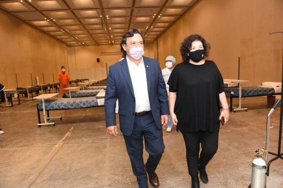 El gobernador Sáenz y la ministra Vizzotti recorrieron el Centro de Recuperación COVID-19 de Limache