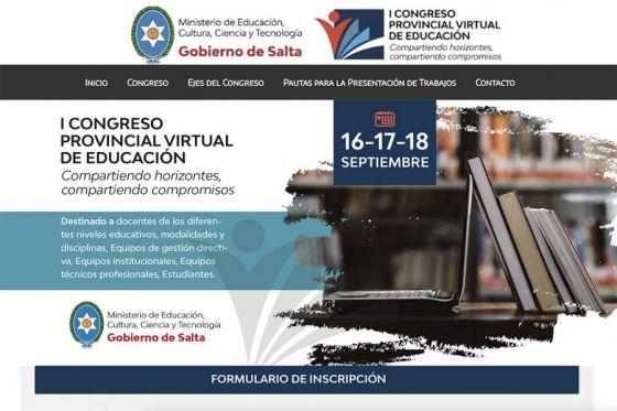 Salta desarrolla el I Congreso Provincial Virtual de Educación