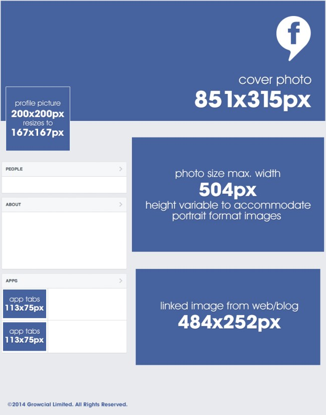 facebook image size grid