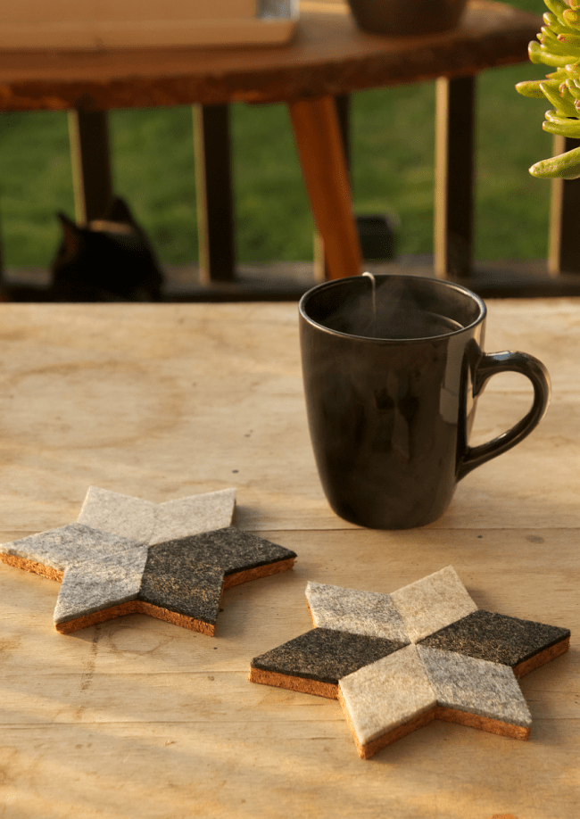 Geometric Felt Coasters | 10 Craft Project Ideas For Crafty People | Saltbush Avenue