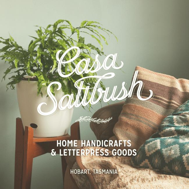 @CasaSaltbush on Etsy: Home Handicrafts & Letterpress Goods