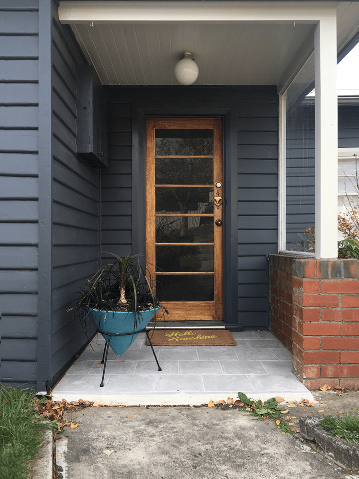 Dark blue entryway | Saltbush Avenue