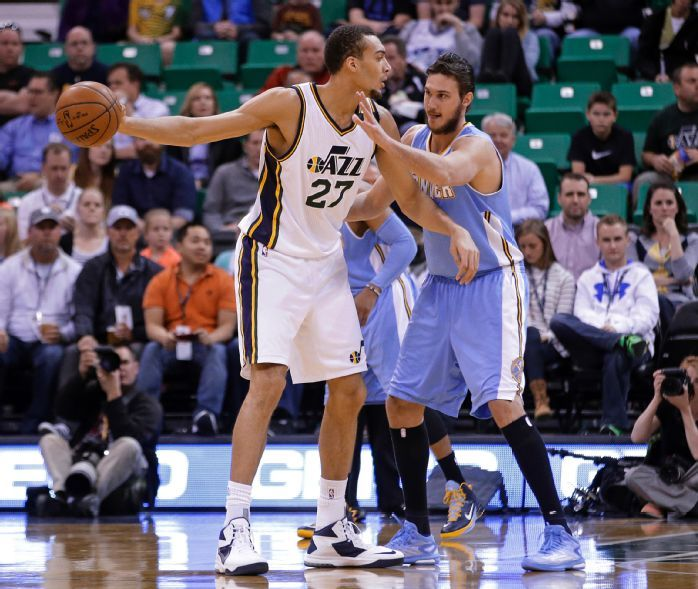 Rudy Gobert had a very efficient offensive game tonight, scoring a career-high 20 points on only 7 shots.