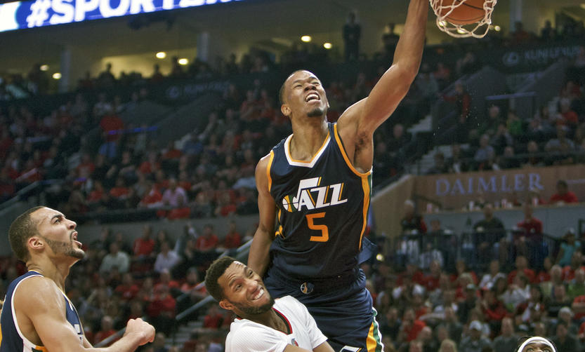 Rodney Hood's progress will continue to elevate this season. (AP Photo/Craig Mitchelldyer)