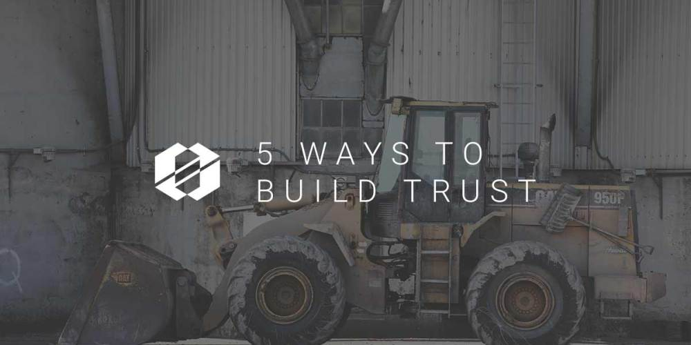 build trust 5 ways