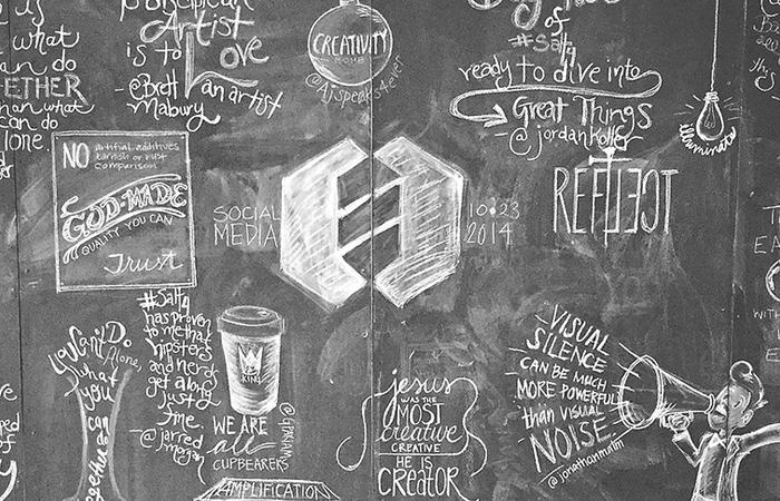 Social Media Art Wall at SALT Conference