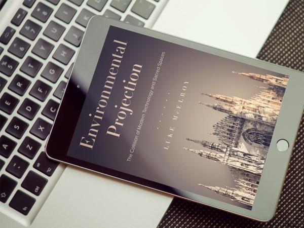 Environmental Projection Book Sample - on iPad