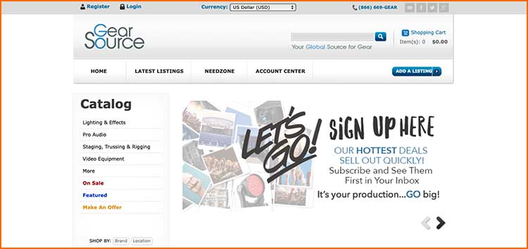 Gear Source - Used Production equipment websites