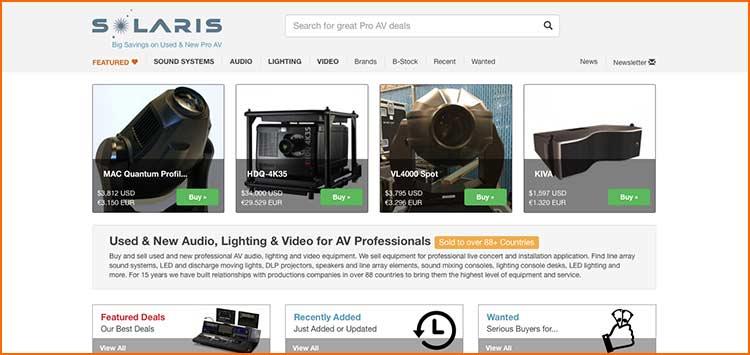 Solaris Network - Used Production equipment websites