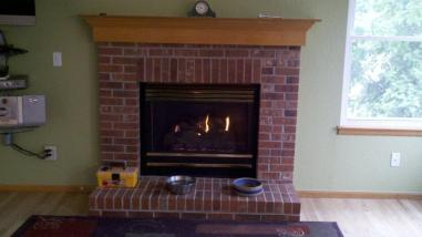 The old brick fireplace needed a facelift