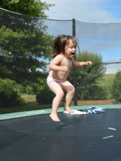 So much fun on the trampoline