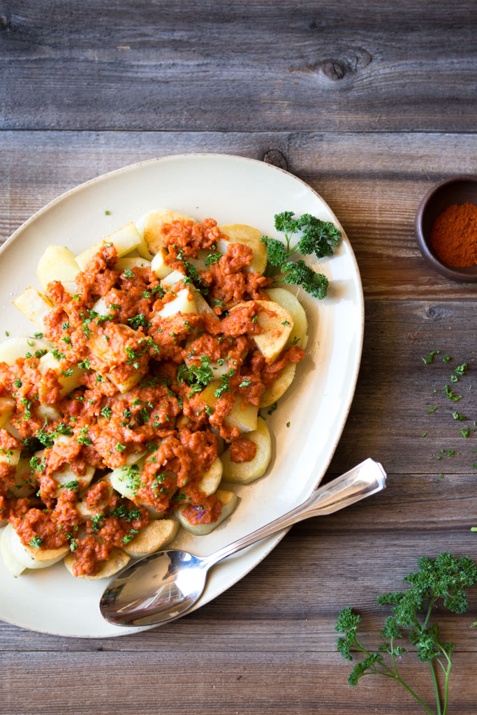 Whole30-compatible patatas bravas are a great addition to your meal plan.