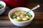 chicken sausage keeps this soup light and healthy