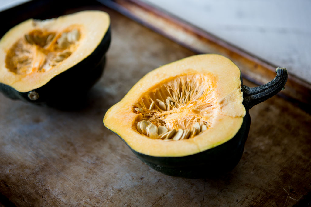 Protein-Packed Acorn Squash Boats - the perfect side dish for the holidays.