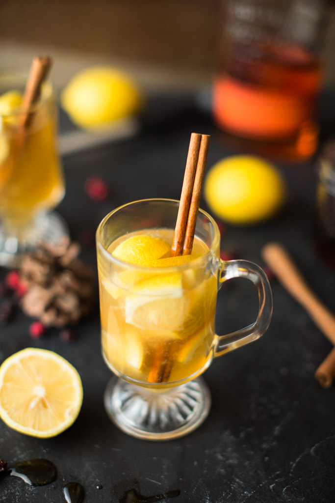 When the chill of winter has you by the throat, make a batch of this Muddled Maple Hot Toddy. Cheers!