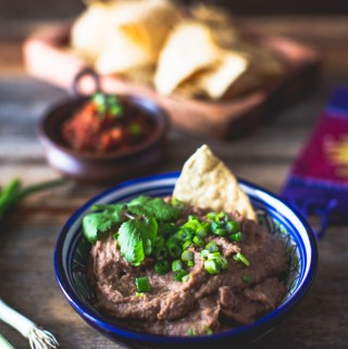 Creamy Healthy Slow-Cooker Refried Beans