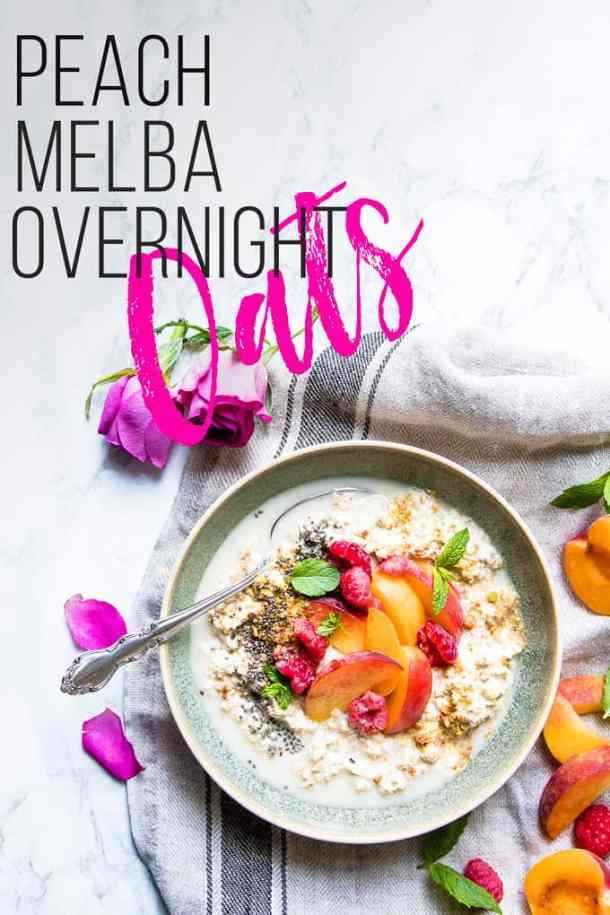 Peach Melba Overnight Oats. | A simple delicious step to weight watchers meal planning.