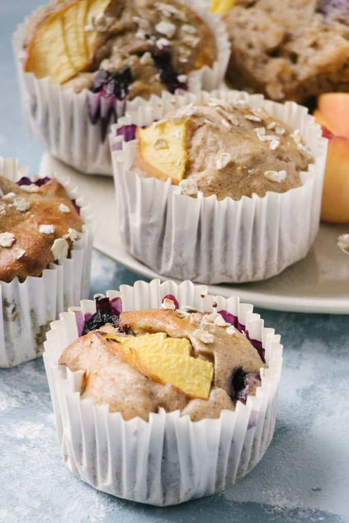 Simple Skinny Blueberry Buttermilk Muffins