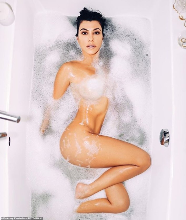 Kourtney caused quite the stir when she promoted her new lifestyle website, Poosh in March 2019 as she shared a naked snap soaking in a bubble bath