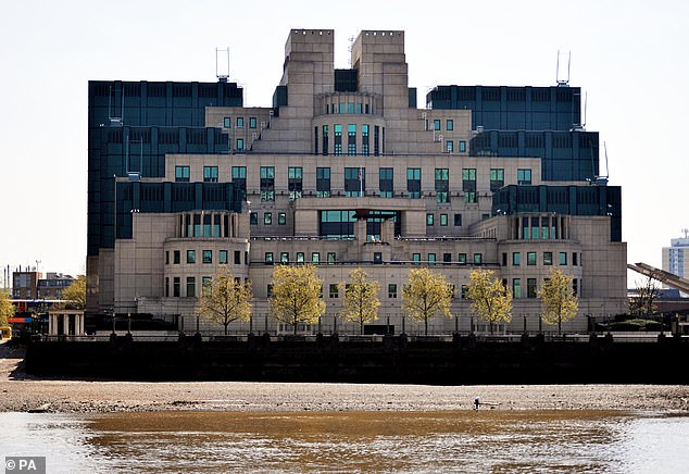 MI5 is investigating the files (pictured the HQ in London) after it emerged around 150 Brits were also on the watchlist