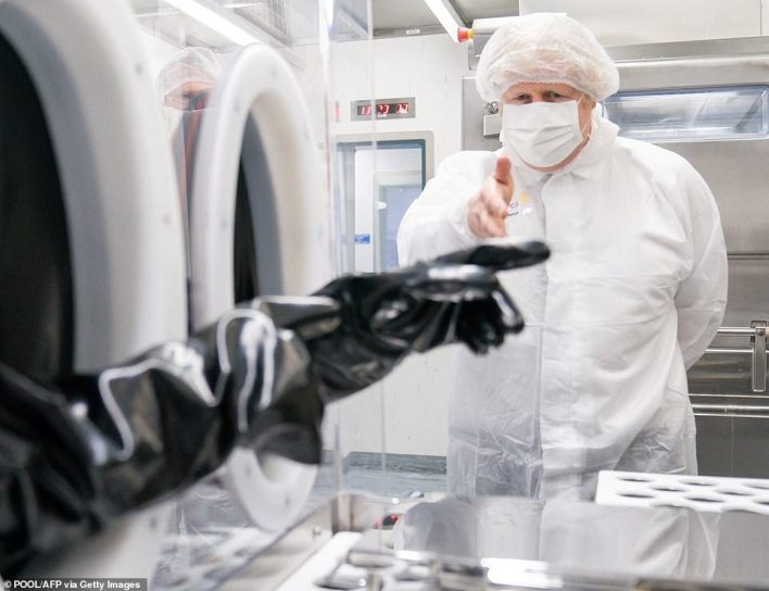 During a visit to an AstraZeneca Covid vaccine plant in Cheshire today,Boris Johnson insisted the country is still on track to end lockdown by summer