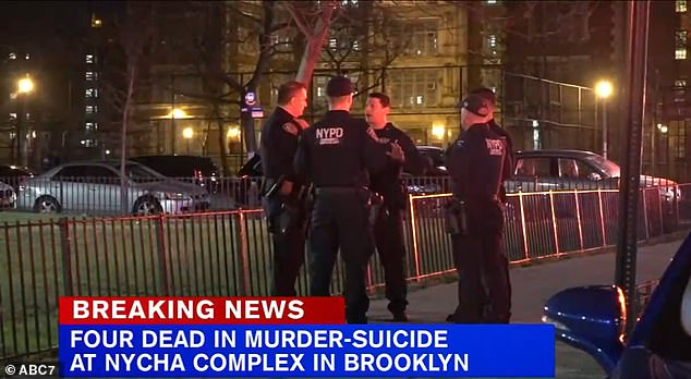 The officers found a 45-year-old woman, a 20-year-old woman and a teenage girl, whose age was not immediately clear, dead from gunshot wounds. Officers at the scene of the shootings on Monday night