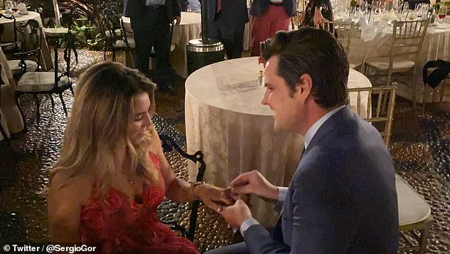 Gaetz proposed to his fiancée Ginger Lucky at Donald Trump's Palm Beach club in December