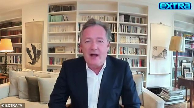 Piers Morgan, DailyMail.com's Editor-at-Large,made the admission in an interview with Extra's Billy Bush, which is set to air Tuesday night
